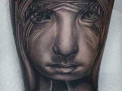 black and grey tattoo, realism tattoo, surrealism tattoo , smooth tattoo, heaven gates tattoo, futuristic angel, renaissance tattoo, angel tattoo, protective angel tattoo, church tattoo, angel in church tattoo, church arches tattoo, gothic arhitecture tattoo, angel birth tattoo, rose symbolism tattoo