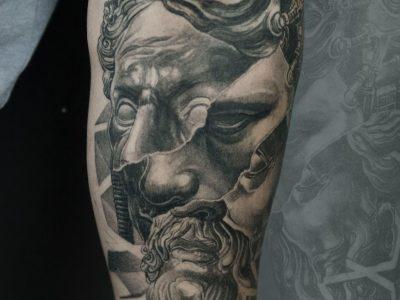 #black and grey tattoo #monochrome tattoo #realism tattoo #surrealism tattoo #portrait tattoo #zeus tattoo #renaissance tattoo #religious tattoo #gods tattoo #mythology tattoo #biomechanical tattoo #sleeve tattoo #forearm tattoo #bespoke tattoo #unique tattoo idea #best smooth shading
