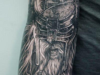 nordic black and grey tattoo