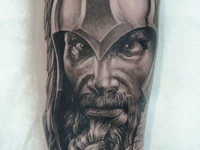 thor black and grey tattoo