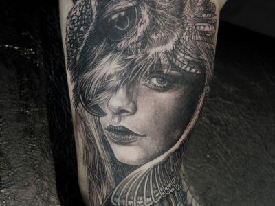 black and grey tattoo best black and grey tattoo smooth shading tattoo owl tattoo mythology tattoo
