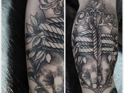 Black and grey tattoo, best black and grey tattoo, smooth shading tattoo, bonding Tattoo , hands tied tattoo, illustrative tattoo, surrealistic tattoo, hand drawing tattoo, hands tied tattoo, new school tattootattoo, , realism tattoo, legend tattoo, mythology tattoo, Unique art tattoo, footwork tattoo.